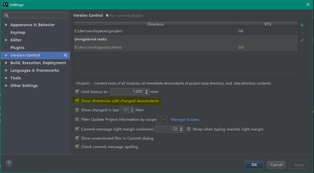 IntelliJ IDEA 版本控制(svn、git) 修改文件后,所属目录的颜色也变化