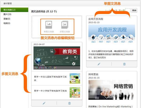 微信公众平台素材编辑与自动回复图文教程图片